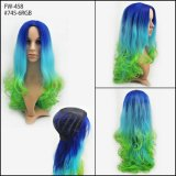 Beautiful Color Long Style of Curly Fashion Novos estilos de Synthtic Halloween Wigs