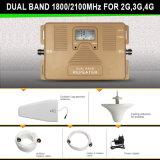 Dual Band Signal Booster 1800 / 2100MHz Dcs WCDMA Répéteur de signal mobile
