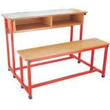 [شنس] قاعة الدرس أثاث لازم خشبيّة مزدوجة طالب مكتب وكرسي تثبيت ([فس-3233])