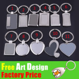 Wholesale Plated Gold Blank Cutom Metal Trolley Coin Keyring