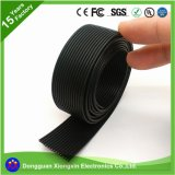 Draad van het Silicone van het Type 26AWG van Leider van de Isolatie van het silicone de Rubber Materiële en Vastgelopen Rubber Vlakke