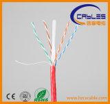 Cable de LAN mencionado de la ISO RoHS del Ce CAT6 UTP