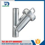 Ángulo de acero inoxidable SS304 Sanitaria Tipo Weld Y Filtro (DY-SF201)