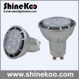 Aluminium GU10 7W DEL Spotlight (SUN10-GU10-7W-G)