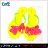 Плоские желе Cute Bowknot душ под открытым небом пляжа Тхонг Шлепанцы тапочки для женщин дамы девочек