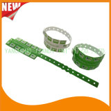 Divertissement en vinyle 10 bracelets en plastique de l'onglet ID de bandes de bracelet (E6070-10-23)