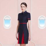 Frauen-Fußleisten-Luftfahrt-Form-Fluglinienstewardess-konstantes Büro-Dame-Kleid