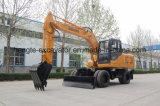 Estándar excavador de la rueda de 12 toneladas con 0.6 compartimientos
