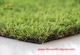 Grama sintética da paisagem verde natural superior com relatório de teste de RoHS