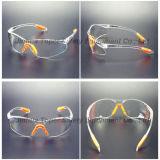 Les verres de sûreté de la protection UV400 avec le doux inclinent (SG102)