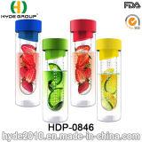 La nuova bottiglia di acqua all'ingrosso della frutta fresca di Tritan, BPA libera la bottiglia di plastica di infusione della frutta (HDP-0846)