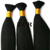 Le double de couleur naturel brut tiré les cheveux en vrac chinois
