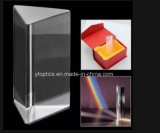 para la prisma triangular del vidrio óptico del reflejo y de la refracción
