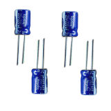 размер Tmce02-9 электролитического конденсатора 25V 105c алюминиевый миниатюрный