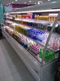 Gemüsebildschirmanzeige-Kühler/Handelskühlvorrichtung-offener Kühlraum für kalte Getränke