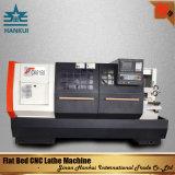 Tornio orizzontale resistente di CNC della base piana Cknc61125