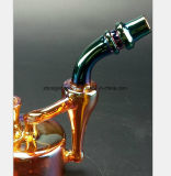 Wine Red Knell Smoking Pipe for 5.9 Inches Filter Pipe