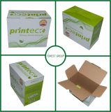 Rectángulo de papel acanalado blanco para el envío del alimento