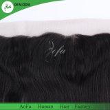 Brasilianische Jungfrau-Schwarz-Farben-gerades Menschenhaar-Spitze-Stirnbein