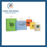 Logotipo estampado brillante bolsa de papel Kraft (DM-GPBB-146)
