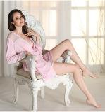 """Pijamas """"sexy"""" Sy10305678 do laço de Microfiber das mulheres por atacado do Nightwear da roupa de noite"""
