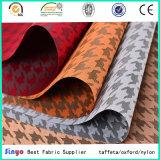 Enduit PU JACQUARD Tissu de polyester de conception d'oiseaux pour amortir un canapé-couvre