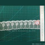 Tessuto di cucito del testo fisso del merletto della macchina del ricamo del cotone bianco all'ingrosso di modo