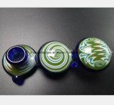Blaues Glaswasser-Rohr des Filters, zum der Tabak-Rohre zu filtern