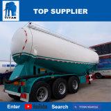 タイタンの手段-小麦粉のバルクセメントのタンカーのトレーラーを運ぶ55cbm空気の乾燥したバルクトレーラー