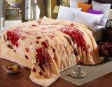 厚く暖かく柔らかいポリエステルRaschelのアクリルのミンク毛布