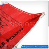Saco tecido PP do plástico de China para a alimentação
