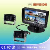 7inch LCD de Monitor van de Vierling met het Systeem van de Camera van de Visie van de Nacht CCD
