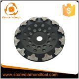 La forme de 7 pouces T segmente la roue de meulage concrète de cuvette