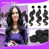 Qualidade superior 100% virgem Corpo Cabelo humano indiano da onda de cabelo humano