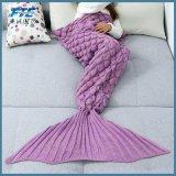 Saco de dormir hecho a mano suave de la manta del paño grueso y suave de la cola de la sirena