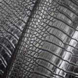 Выделенная синтетическая обувная кожа мешка Faux PU животной кожи крокодила выбитая