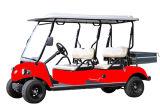 小さい貨物が付いている電気自動車4の乗客のゴルフカート