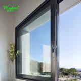 Finestra di alluminio di vetro d'isolamento Bassa-e con il disegno della griglia