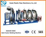 Máquina plástica hidráulica de la soldadura por fusión del tope del tubo del HDPE de Sud500h