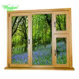 Алюминиевое окно с деревянной конструкцией цвета