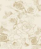 Design de luxe italien flocage de velours de papier peint pour la décoration d'accueil