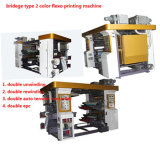 Machine d'impression couleur Flexo type Bridge Type 2, double déroulement et rebobinage double, double EPC, double contrôleur de tension
