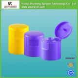 Bottiglia di plastica dello sciampo con la protezione della parte superiore di vibrazione