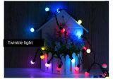 10mクリスマスツリーの花輪の花飾り屋外LEDの球ストリングライト