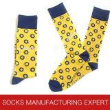 Heißer Verkaufs-bunte Wolle-Socke der Männer