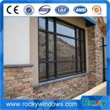 회색 색깔 반대로 소음에 의하여 이중 유리로 끼워지는 여닫이 창 알루미늄 Windows