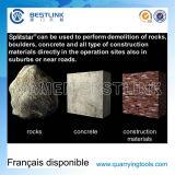 Aufspalten-AG, das ausdehnenden Mörtel für das Brechen des Steins aufspaltet
