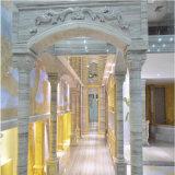 Tuiles de marbre en bois en cristal pour le mur interne et externe