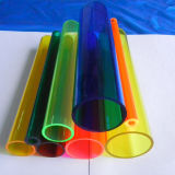 Tubo de PMMA de acrílico colorido de alta qualidade