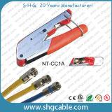 Het Hulpmiddel van de compressie voor de Coaxiale Schakelaar van de Compressie van de Kabel RG6 Rg59 F